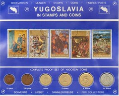 Stamps and Coins from Yugoslavia 1985
