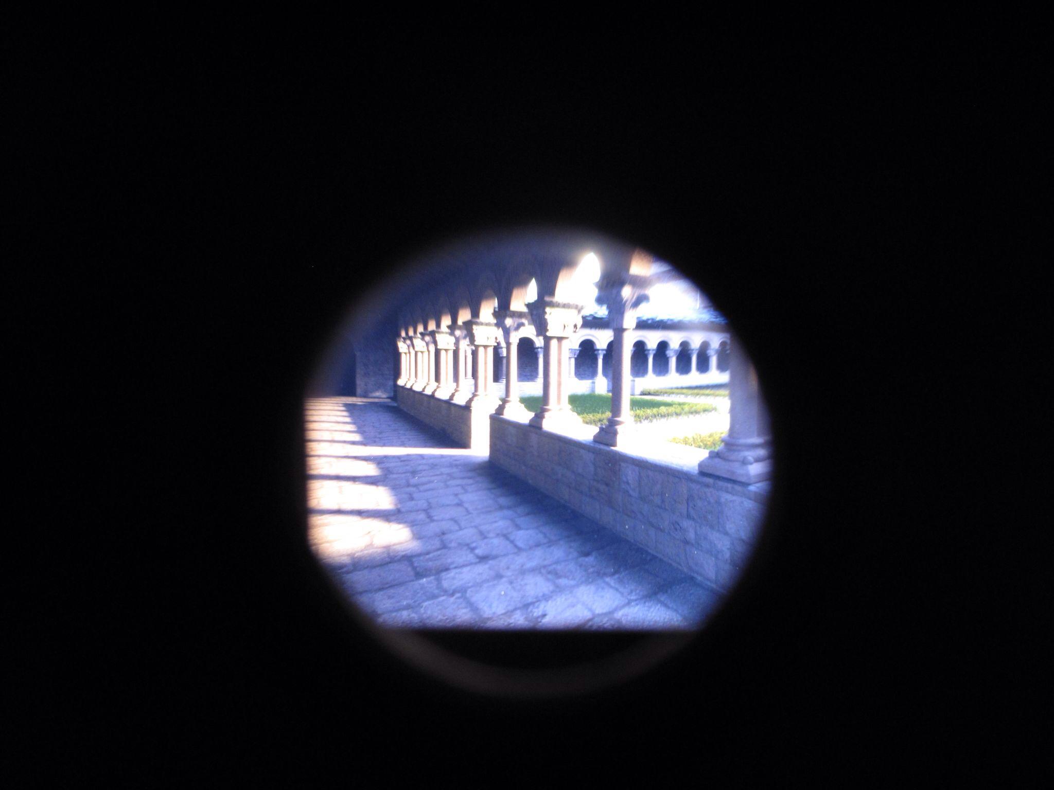 museo diocesano de jaca_claustro_vista estereoscopica_romanico