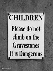 Cemetery sign -- Castleton, Derbyshire, England