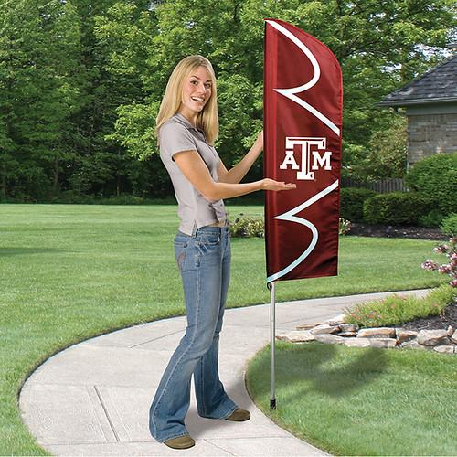 Texas A&M Short Feather Flag