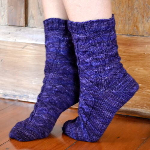 Swap Socks knitted by Kelsey