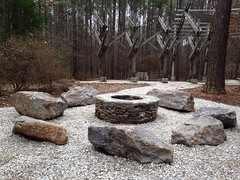 Fire circle at Louise Kreher Forest Ecology Preserve