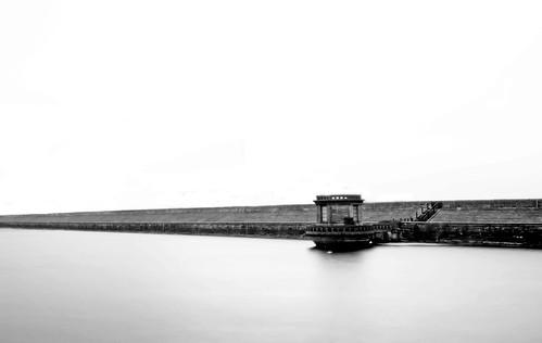 Ladybower Reservoir - A windy, foggy day.