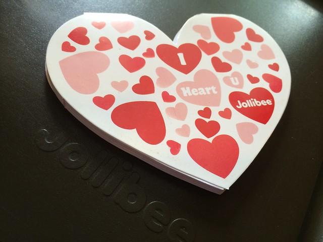 Valentine's notepad - Jollibee