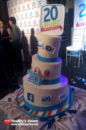 20th birthday PH Internet cake