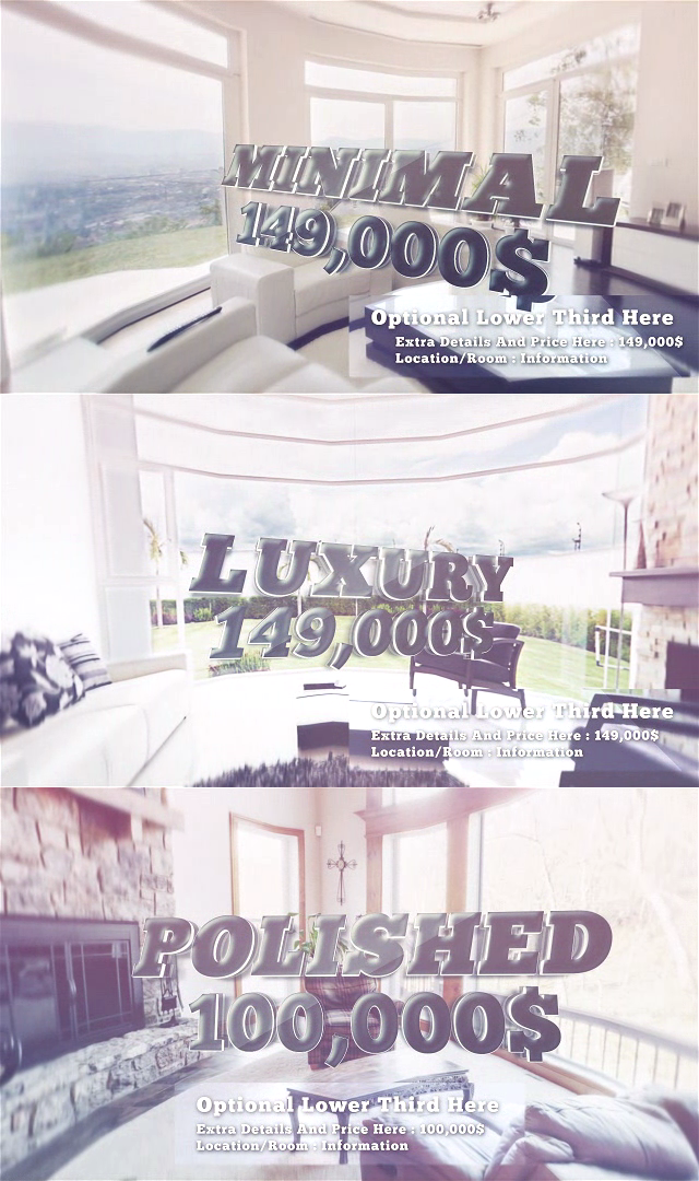 After effects Templates Real Estate