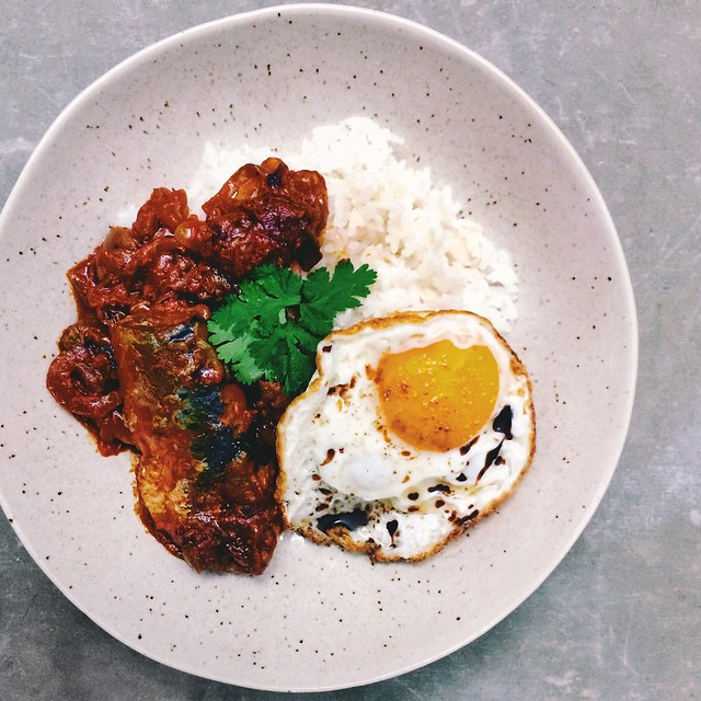 Sardine Sambal and Egg Rice