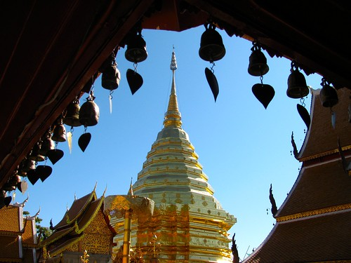 Chedi en Wat Phra That Doi Suthep