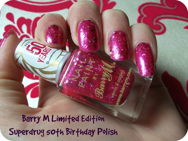 NOTD Barry M LED Superdrug 50th Birthday