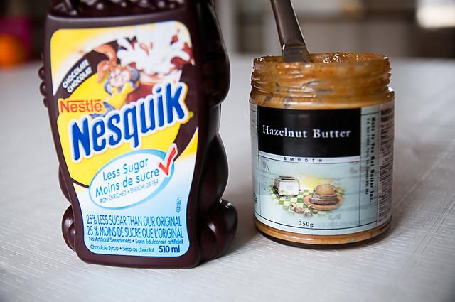 quik + hazelnut butter