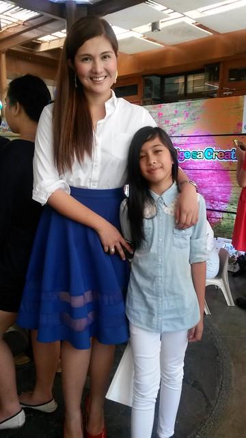 Dimples Romana & daughter