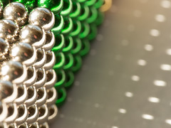 Green and Silver Buckyballs