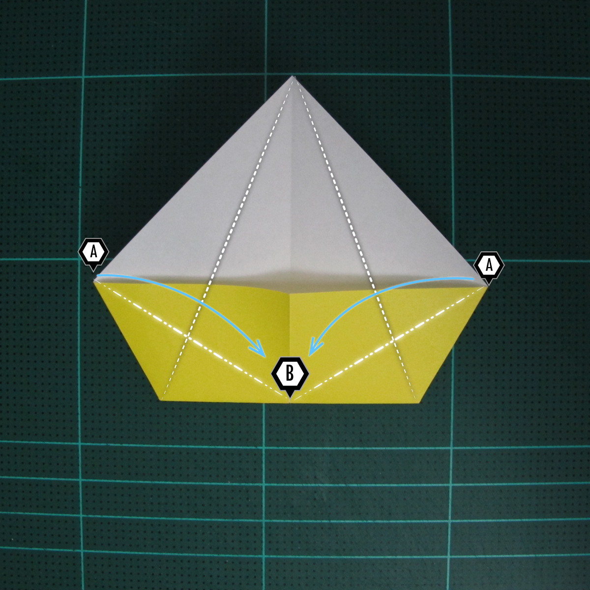 การพับฐานปลา (Oigami Fish Base) 005