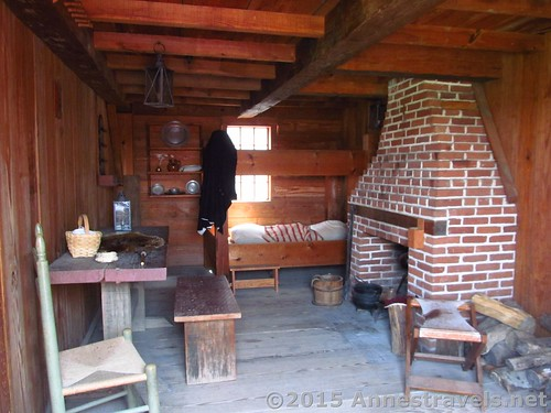 A room that was used for junior officers, Fort Stanwix National Monument, New York