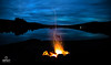 Campfire by the loch