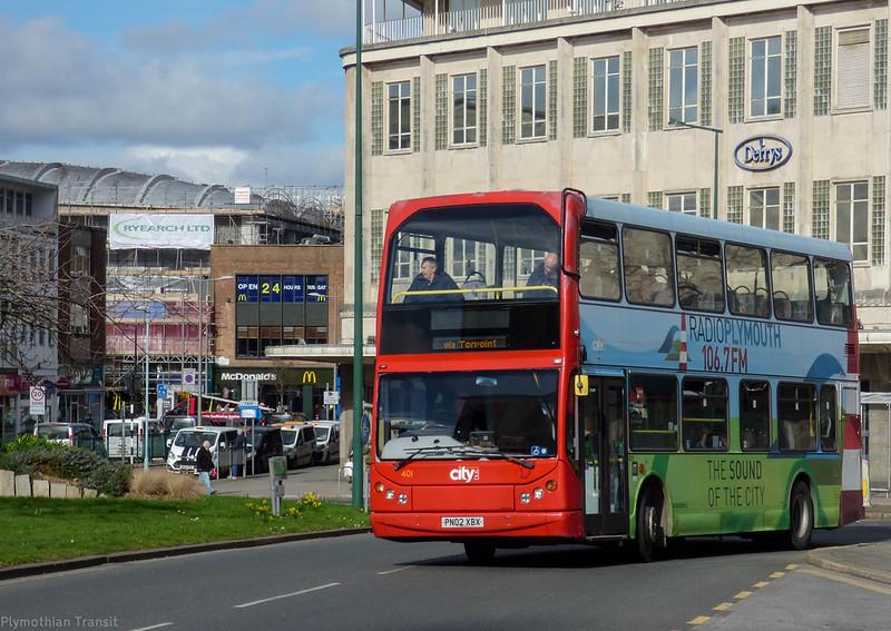 Plymouth Citybus 401 PN02XBX