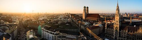 Munich Skyline Panorama from Toni Hoffmann