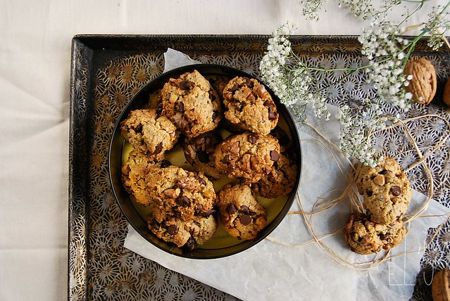 Cookies aux pépites de chocolat et noix