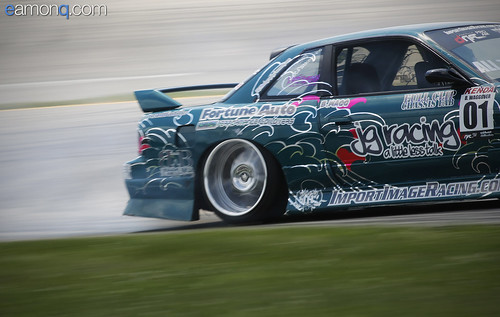Photo by Eamon Queeney: Brian's drift car, a v8 swapped nissan 240 coupe on Fortune Auto Coilovers