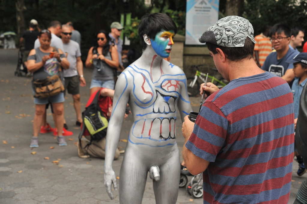 Consider, that Cfnm body painting