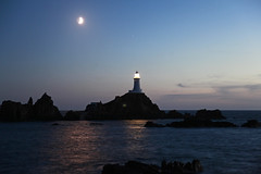 Corbiere Lighthouse at Dusk