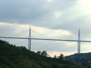 65 uitzicht op brug Millau vanaf hotel