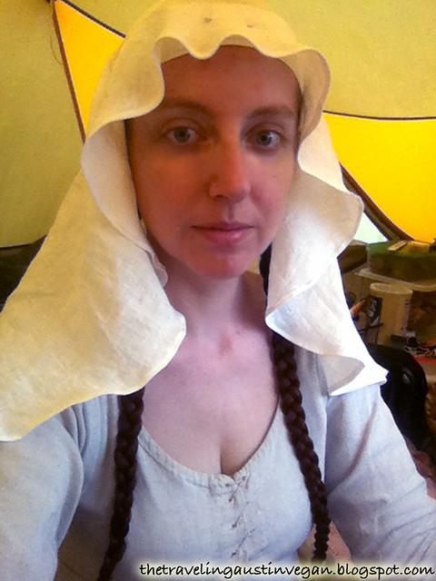 Me In Handmade Linen Medieval Veil
