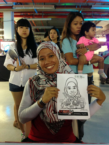caricature live sketching for NTUC U Grand Prix Experience 2013 - 45