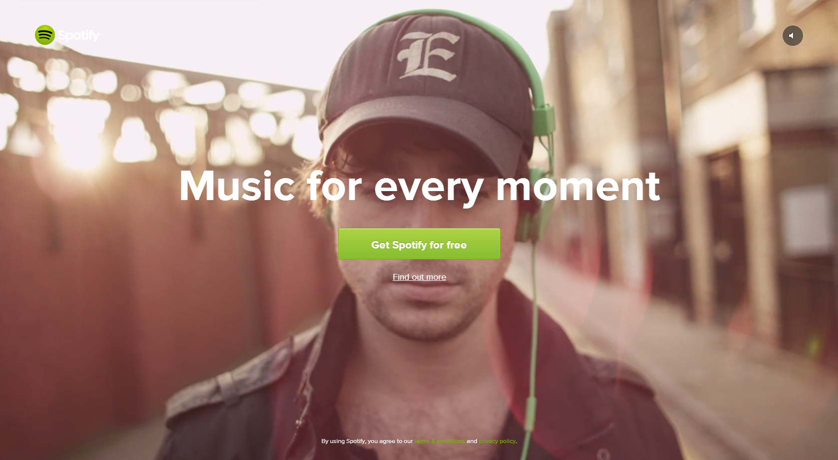 Spotify Website with Video Background