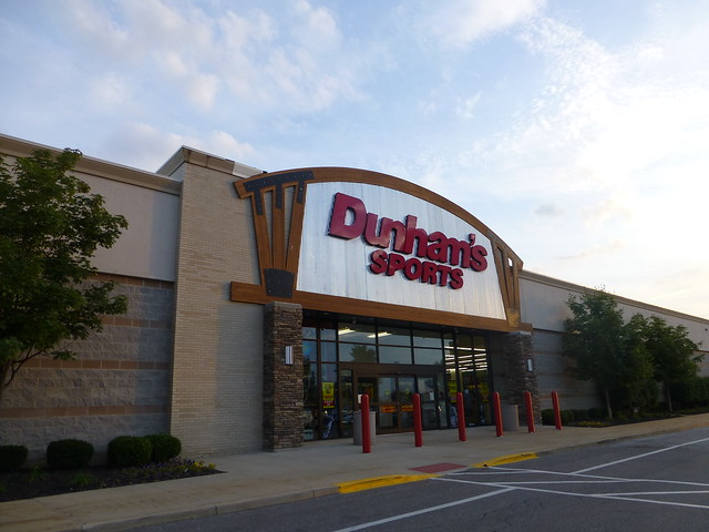 Dunham's Sports is a regional sporting goods superstore chain owned by Dunham's Athleisure Corporation, with stores located in the Midwestern to Southeastern United States. The chain specializes in athletic equipment, clothing, guns, and other sports-related items.
