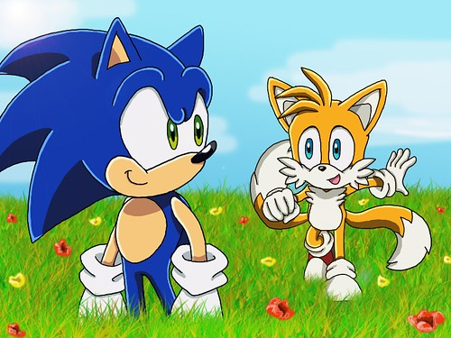 Sonic and Tails by xjestino.