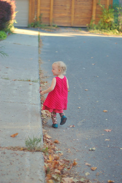 running away from Mommy: thank heavens for dead-end streets!