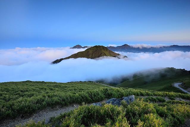 東峰冒出頭@合歡山 Mt. Hehuan