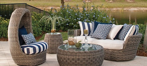 rattan wicker patio furniture by Hauser