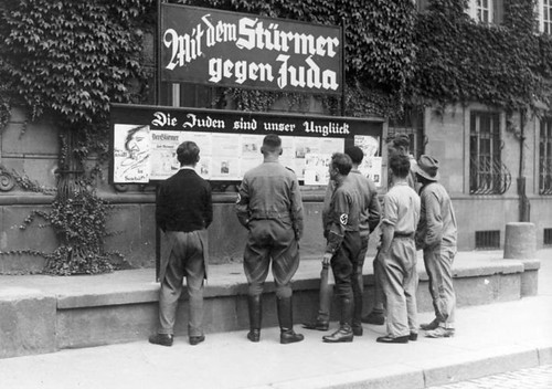 Anti-Jewish propaganda on a German street
