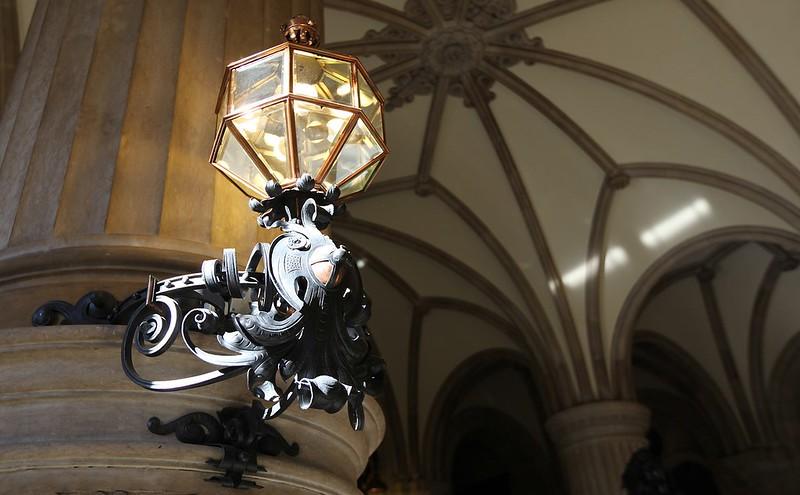 漢堡市政廳內的燈