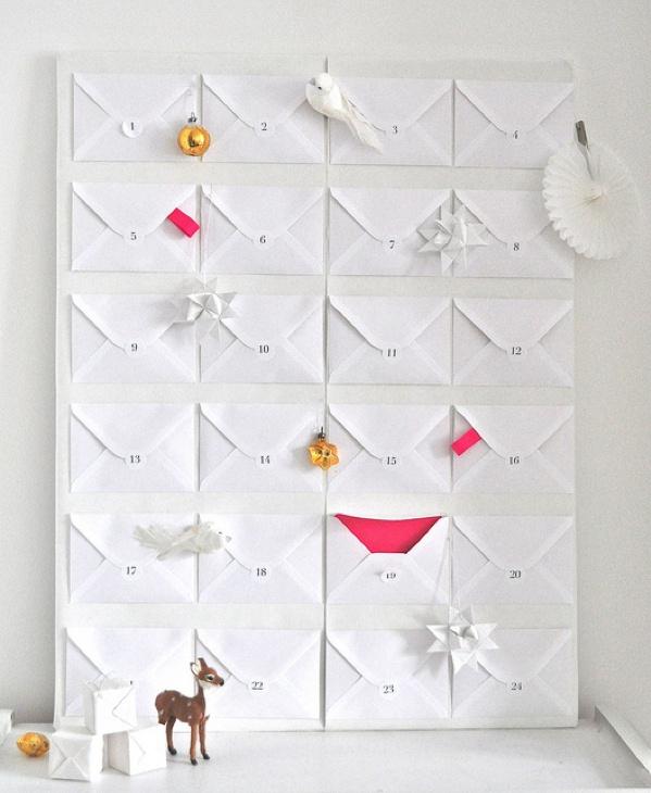joulukalenteri kirjekuorista