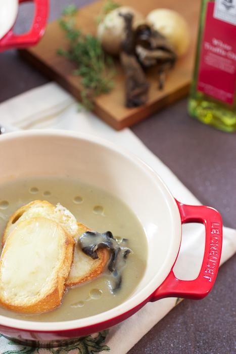 Mushroom, Potato and Brie Soup