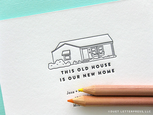 custom house moving announcements // house no. 49
