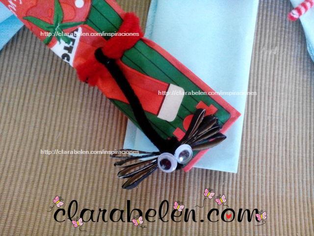 libélula para niños con rollo de cartón para Halloween