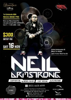 11/16 - Sat - Neil Armstrong Comes to Macau @ Club Cubic for the 60th Macau Grand Prix...