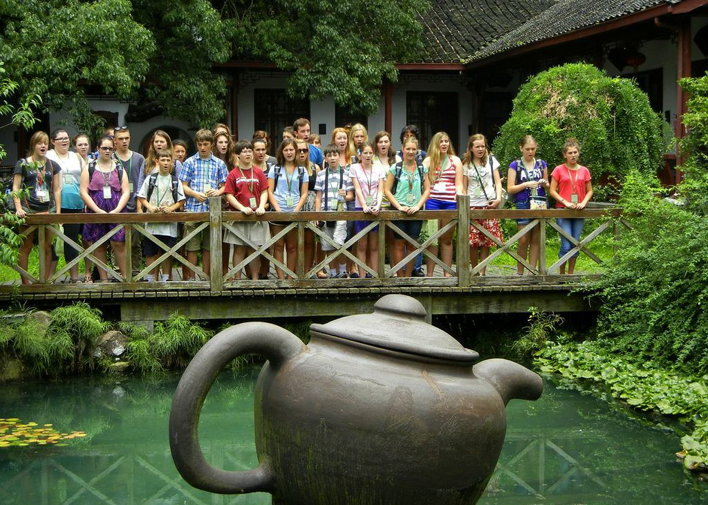 Sacramento Children's Chorus at a tea village near Hangzhou