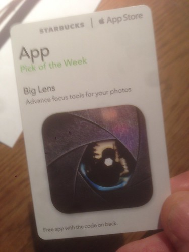 Starbucks iTunes Pick of the Week - 11/19/2013 - Big Lens