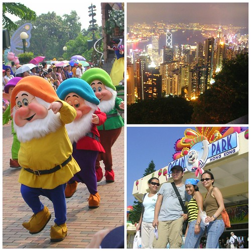collage-hk with sg friends