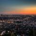 Los Angeles at Dusk by Bartfett