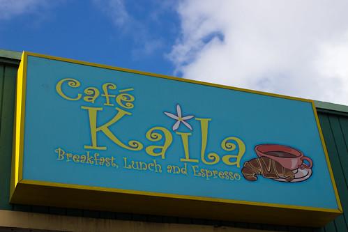カフェカイラ ハワイ本店の看板