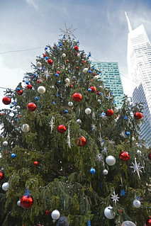 Picture Of Bryant Park's 2013 Christmas Tree. The Bryant Park 2013 Tree Lighting Ceremony Is Scheduled For Tuesday December 3, 2013. Photo Taken Sunday December 1, 2013