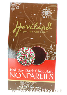 Haviland Holiday Dark Chocolate Nonpareils