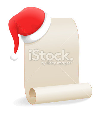 stock-illustration-7386408-christmas-wishlist-santa-hat-and-scroll