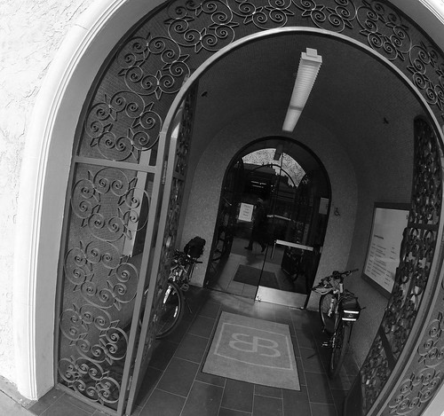 bikes in entryway